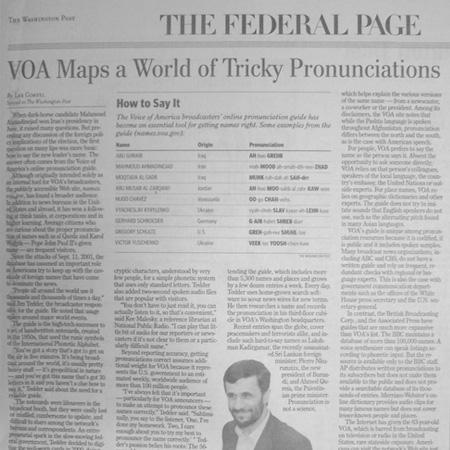 VOA Maps Pronunciations